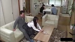 Japanese Teen Slut Riding Dads Friend